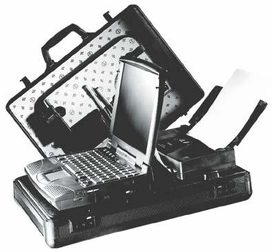 QuarterBag: Das universelle Koffersystem für alle Notebooks und Drucker mit zentraler Stromversorgung